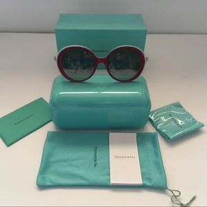 Tiffany & Co TF4107 Sunglasses Cherry Shot Blue